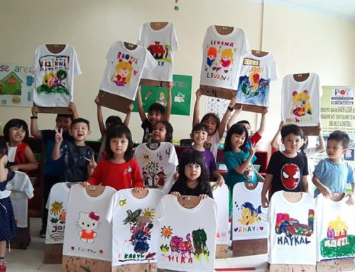 Workshop POT/Painting On T-shirt Maple Preschool (usia 3 sd 5 th)…Di .Ruko Maison Avenue Cibubur.Kota Wisata. 28 Februari 2020
