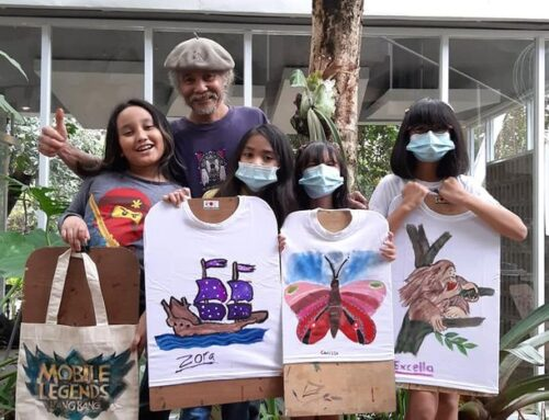 Workshop/kursus POT/Painting On T-shirt & Bag  di.ISP Gallery . SAUNG GRAJEN/SANGGAR POT /coffee theasmara.id.   Kak excella .dik  carissa. Kak mayo, dik zora Dan kak Elisa